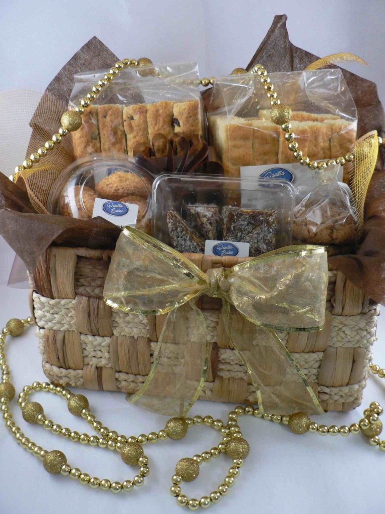 Gift basket with baked treats