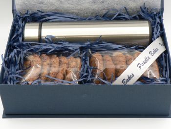 Small Gift Box with biscuits and a travel flask
